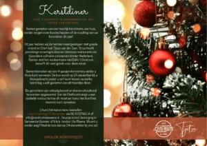 flyer Kerstdiner 2020 café 't centrum